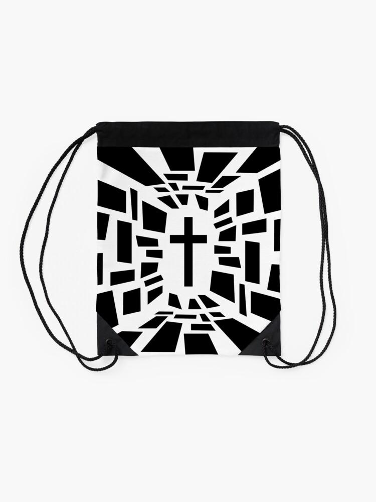 Alternate view of Christian Cross Drawstring Bag