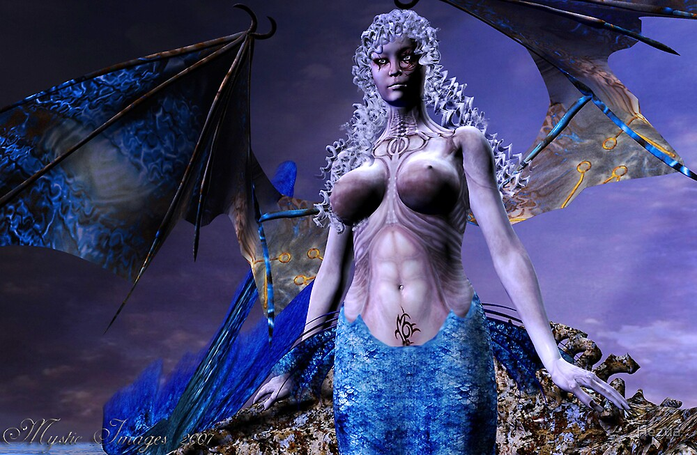Demon Mermaid 4 by Heztia