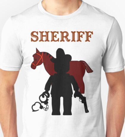 """SHERIFF"", Customize My Minifig T-Shirt"