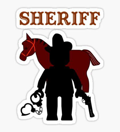 """SHERIFF"", Customize My Minifig Sticker"