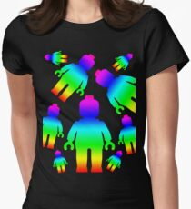 RAINBOW MINIFIGS Womens Fitted T-Shirt