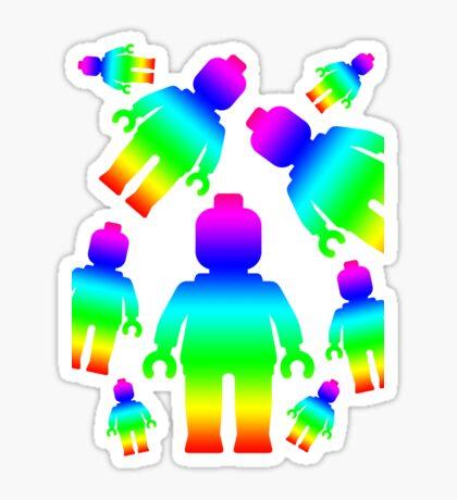RAINBOW MINIFIGS Sticker