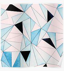 Geometric Washout #redbubble #decor #buyart Poster