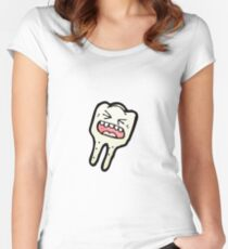 tooth cartoon character Women's Fitted Scoop T-Shirt