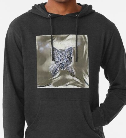Ninja cat hiding in silver Lightweight Hoodie