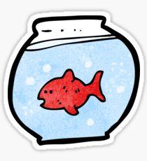 cartoon fish in bowl Sticker