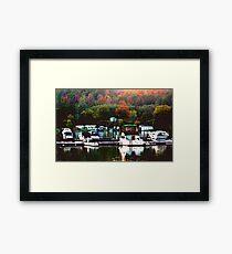 Fall Harbour Framed Print