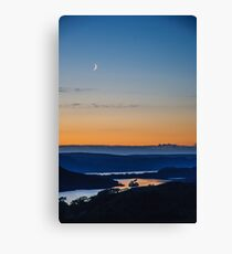 Crescent Moon Over Kernsary Canvas Print