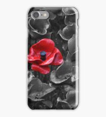 Poppies at the Tower iPhone Case/Skin