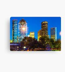Magnolia City at Dusk - Houston Texas Skyline Canvas Print