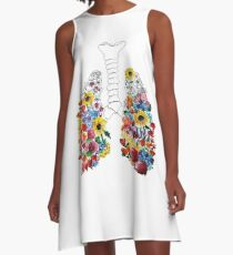 Floral Lungs A-Line Dress