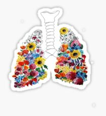 Floral Lungs Sticker