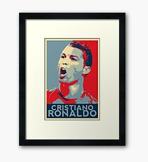 "Cristiano Ronaldo Portrait inspired by the Barack Obama ""Hope"" poster designed by Shepard Fairey. Framed Print"