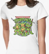 Teenage Mutant Ninja Turtles - 1987 Cartoon Womens Fitted T-Shirt