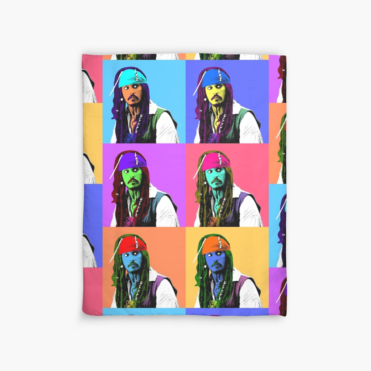 Quot Captain Jack Sparrow Andy Warhol Style Poster Pop Art 6