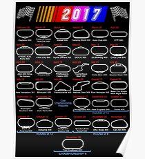 2017 Nascar Cup Series schedule calendar Poster
