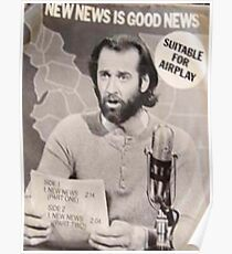 George Carlin, New News, Suitable for Airplay, Rare Poster