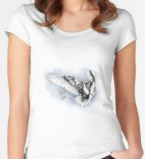 Lazer owl Women's Fitted Scoop T-Shirt
