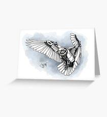 Lazer owl Greeting Card