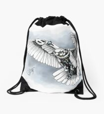 Lazer owl Drawstring Bag