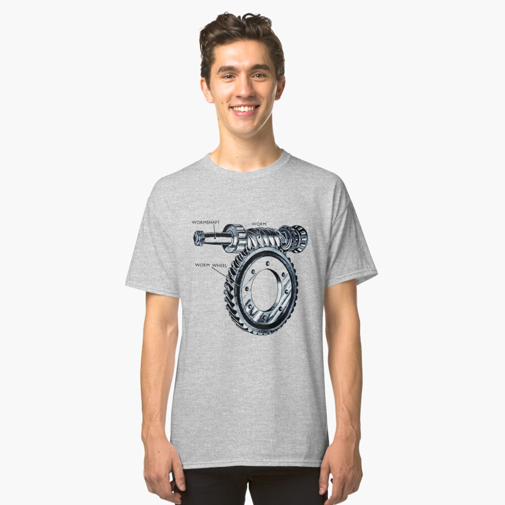 Worm Drive Classic T-Shirt Front
