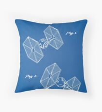 Tie Fighter Throw Pillow