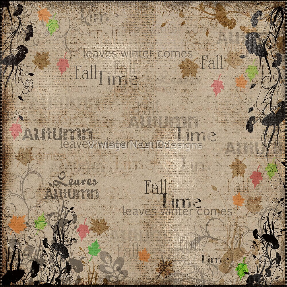 Autumn Leaves Page by Vintage Nest Ddesigns