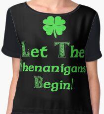 St Patrick's Day Shenanigans Irish Chiffon Top