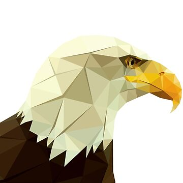 Bald Eagle Original Low Polygonal Art. by StRes