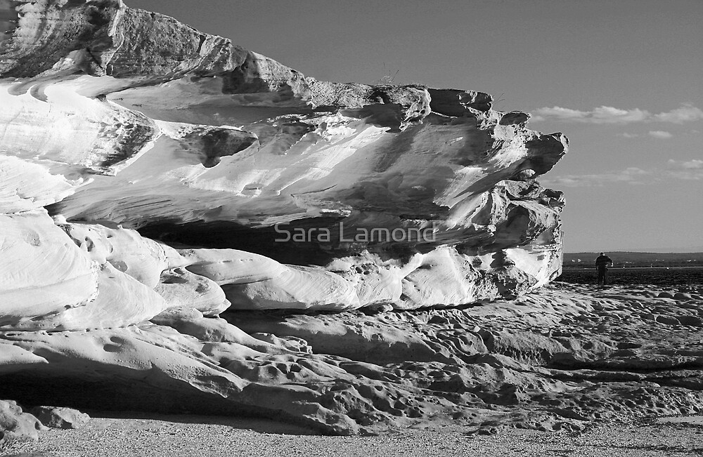 Rock eroded by sea by Sara Lamond
