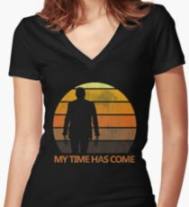 My Time Has Come Women's Fitted V-Neck T-Shirt