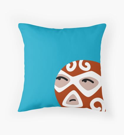 Luchador Throw Pillow
