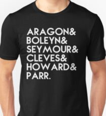 Henry VIII's 6 wives T-Shirt