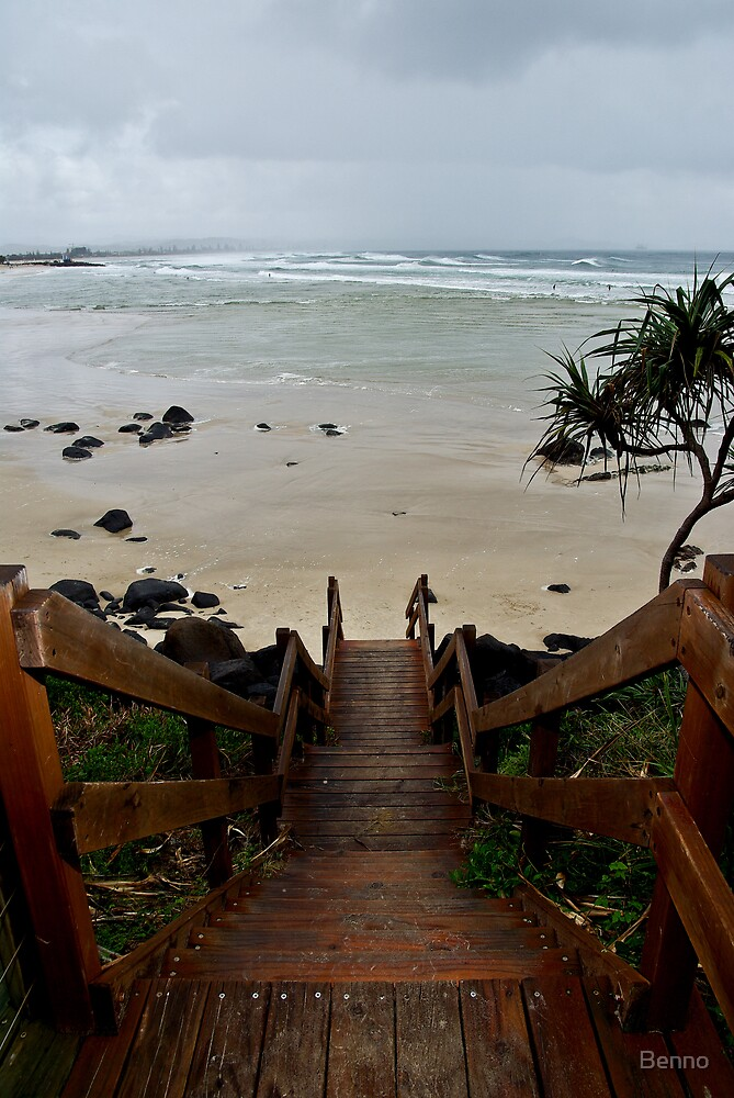 Beach Stairs by Benno