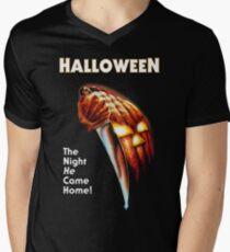 Halloween movie poster Men's V-Neck T-Shirt