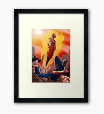 Goku vs Dc universe Framed Print