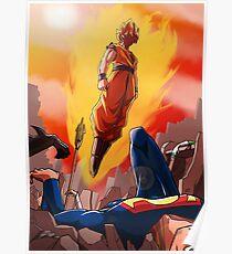 Goku vs Dc universe Poster
