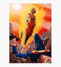 Goku vs Dc universe Photographic Print
