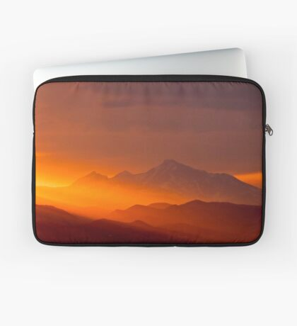 Rain Of Color On Longs Peak Laptop Sleeve