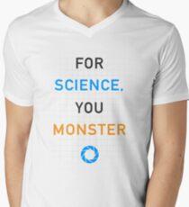 Portal - For Science, You Monster Men's V-Neck T-Shirt