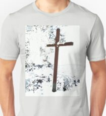 Cross in the Snow  Unisex T-Shirt