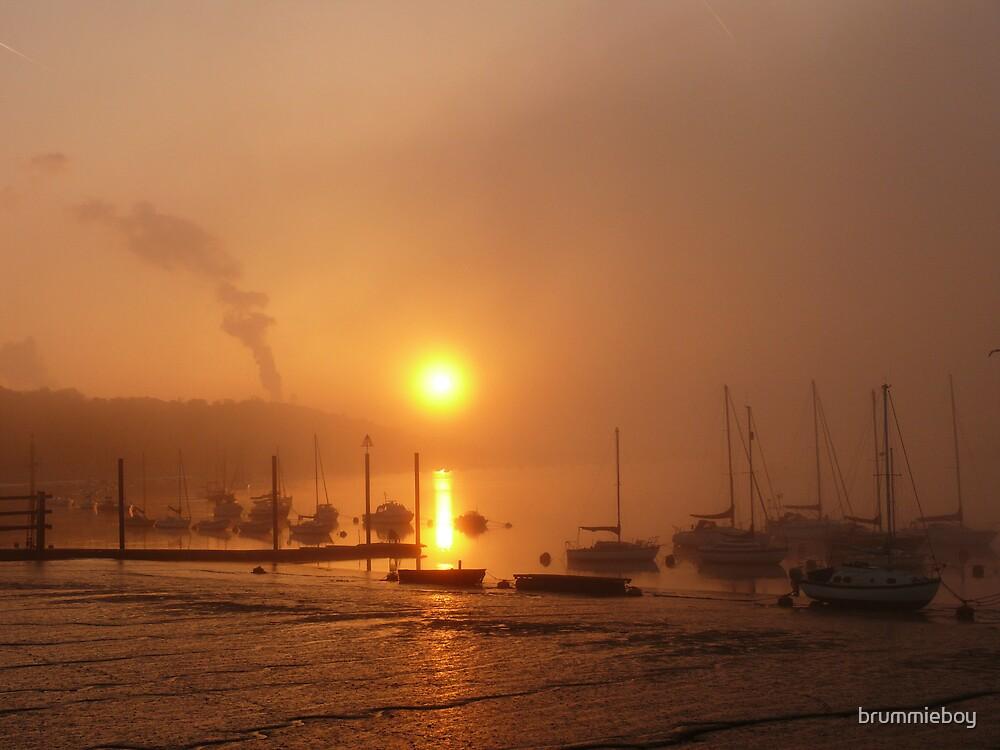 Foggy Sunrise by brummieboy