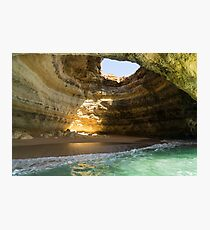 Sea Cave Sunlight -  Photographic Print