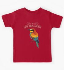 Merops apiaster on black Kids Clothes