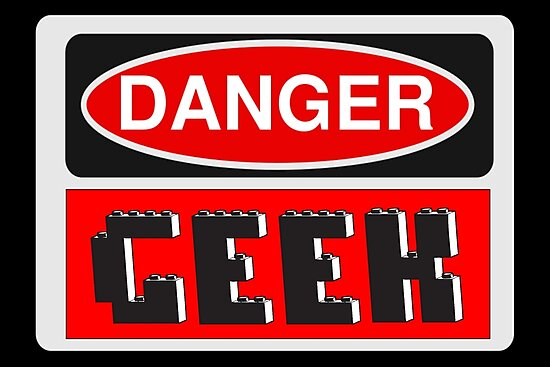 Danger Geek Sign by Customize My Minifig