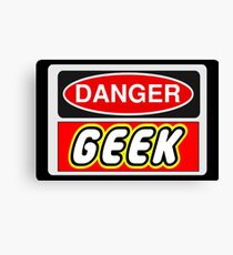 Danger Geek Sign Canvas Print
