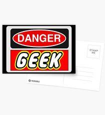 Danger Geek Sign Postcards