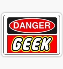 Danger Geek Sign Sticker