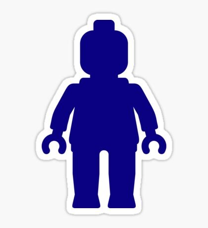 Minifig [Large Dark Blue], Customize My Minifig Sticker