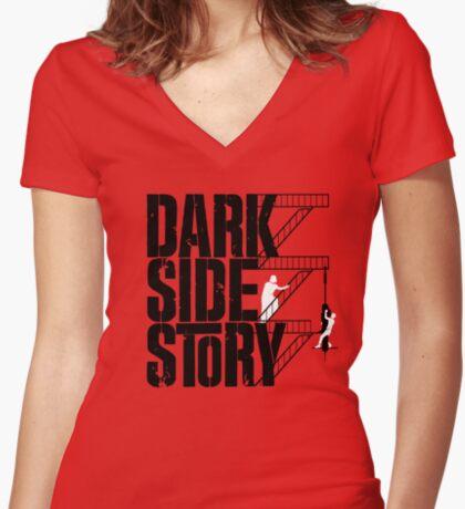 Dark Side Story Women's Fitted V-Neck T-Shirt